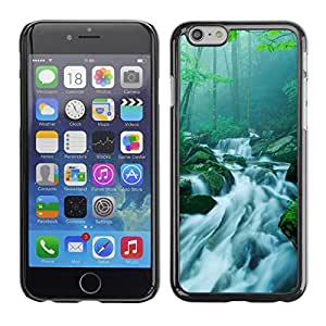LECELL -- Funda protectora / Cubierta / Piel For Apple iPhone 6 Plus 5.5 -- Nature Bamboo Waterfall --