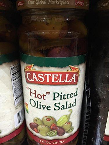 Castella Hot Pitted Olive Salad 12 Fl