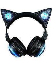 Axent Wear bezprzewodowe słuchawki z kotem z głośnikami (8 zmieniających się kolorów)