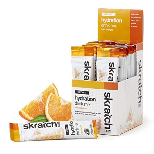 SKRATCH LABS Sport Hydration Drink Mix, Oranges (20 pack single serving) - Natural, Electrolyte Powder Developed for Athletes and Sports Performance, Gluten Free, Vegan, -
