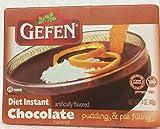 Gefen Diet Instant Chocolate Flavored Pudding & Pie 1.4 Oz. Pack Of 3.