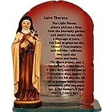 St.Theresa Catholic Statue & Candle / Candleholder, with Prayer. by Catholic Gift Shop Ltd
