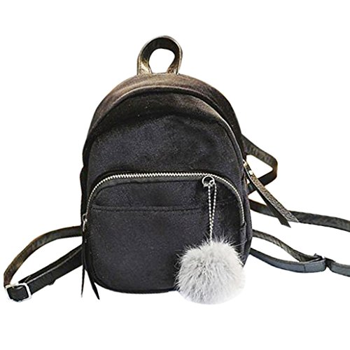 Women's Casual Backpacks, Handbags Women Bags Backpack Sannysis Cheap Velvet Women Womens Teen School Bags Travel Bag Shoulder Bag Decorated With Black Beads (gray)