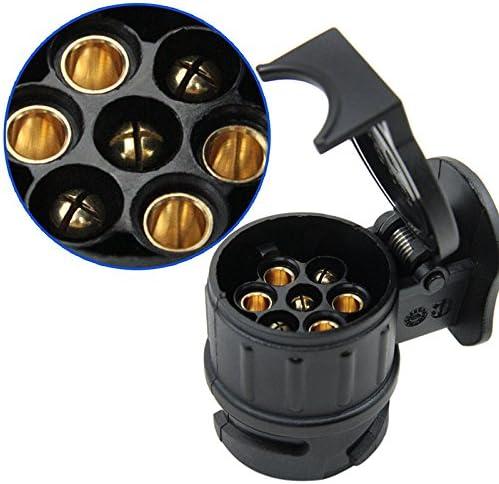 Helmay Adapter Anh/änger Elektrische 13 zu 7 Pin Stecker Konverter wasserdichte Buchse F/ür Caravan Anh/ängerkupplung