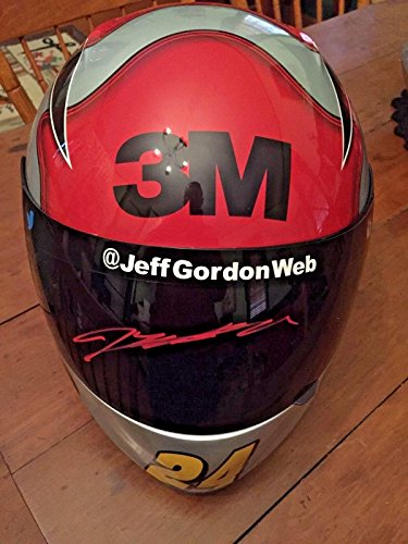 2015 Jeff Gordon Signed autograph 3M Full Size Helmet NASCAR Letter Red Pen - JSA Certified - Cut Signatures ()