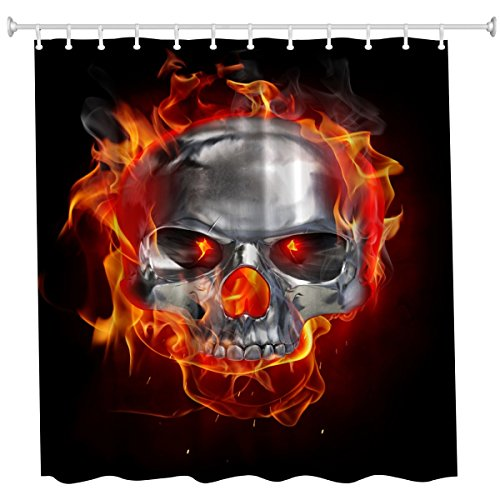 QiyI Halloween Shower Curtain Waterproof Machine Washable Made of 100% Polyester Fabric Easy to Rinse Off and Hang for Bathroom 60