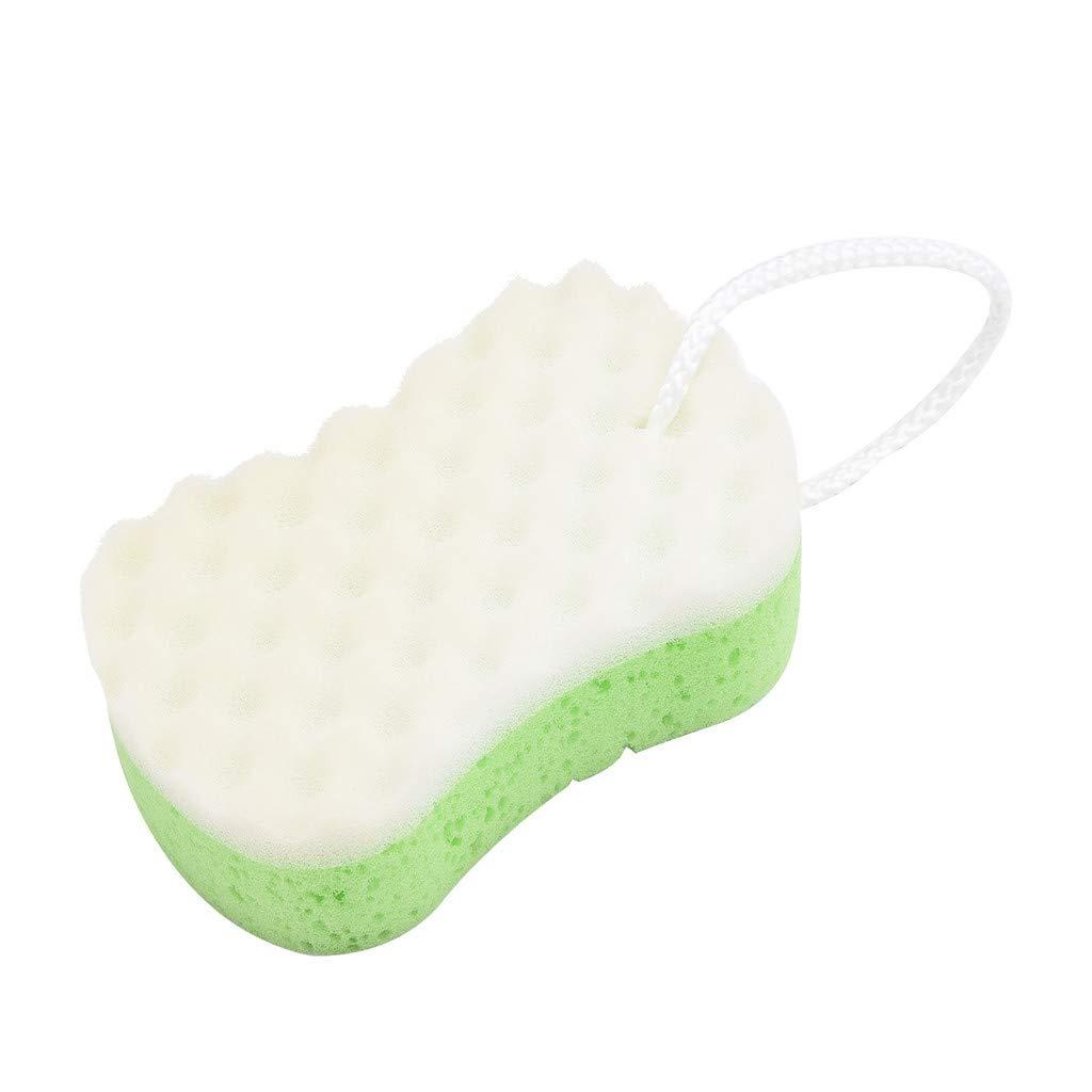 Denzar Bath Sponge,Body Cleansing Bathing Sponge,Soft Sponge Bath Shower Pouf Loop Scrubber for Baby,Kids, Adults (B)