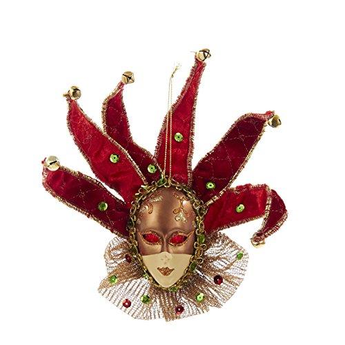 Kurt Adler 8 Fabric Jester Head Ornament