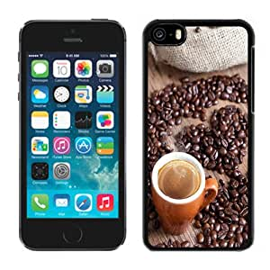Beautiful Custom Designed Cover Case For iPhone 5C With Coffee and Coffee Beans Phone Case Cover