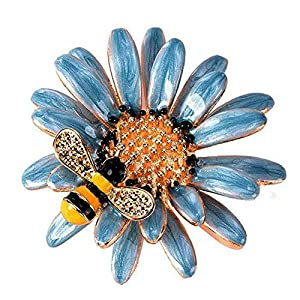 Bledyi Ladies Creative Bee Brooch Corsage Girl Vintage Flower Brooch Metal Brooch Suitable for Shopping/Dating