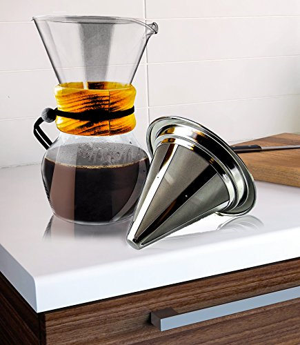 Non Glass Coffee Maker : Best Personal Pour Over Slow Drip Coffee Maker Non Electric by Legendary Swan Cone Coffee ...