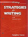 img - for Elements of Writing: Strategies for Writing - Worksheets with Answer Keys (Chapters 4 - 11) book / textbook / text book