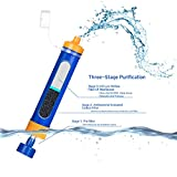 Portable Water Filter Filtration Straw Purifier Survival Gear, Etekcity 1500L Emergency Camping Equipment 3-stage filtration , 0.01 Micron, Survival Kit Supplies