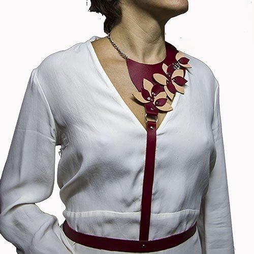 Arnés Nature cuero, moda cinturón mujer leather: Amazon.es: Handmade