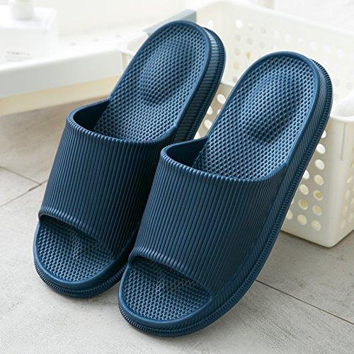 fresche uomo casa coppie trascinamento massaggio scarpe pantofole Pantofole antiscivolo donna estate fankou scuro fresco pantofole bagno maschili da bagno da da e pantofole 40 blu RFOafcqX4