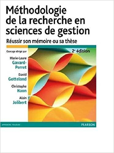 Methodologie De La Recherche French Edition 9782744076046