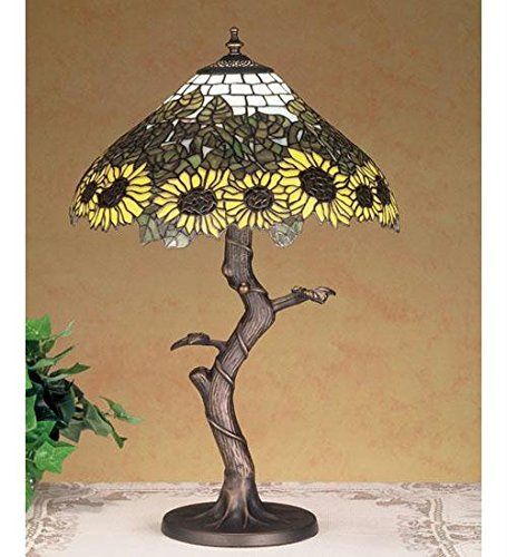 Wild Tiffany Sunflower Table Lamp