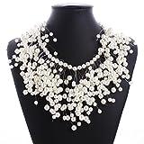 Pearl Multi-storey Explosion models exaggeration fashion retro false collar necklace
