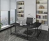 Ulikit Modern L Shaped Computer Desk Corner Gaming Desk Computer Table Workstation Home Office Wood Top Desk Black 66