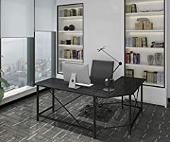 """Create Your Work Space              Create your own workspace with the Ulikit L-shaped computer desk. 66"""" x 49"""" x 29"""" Super-spacious design gives you plenty of space for working, writing, and other activities while easily fitting your ..."""