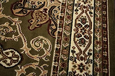 New Generations Black Oriental Traditional Isfahan Persian Area Rugs Rug 8023black