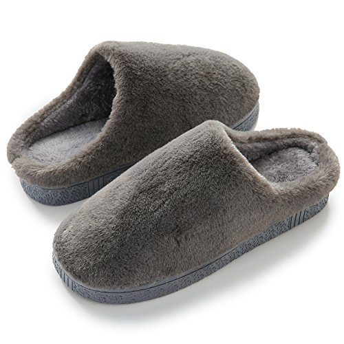 HOMOSEAL Women's Slippers Washable Closed Toe Ultra Lightweight Cotton Indoor Slipper (S, Grey)
