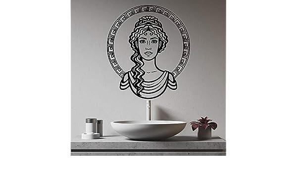 XCSJX Cara de niña griega Grecia Ornamento Hermosa Mujer Diosa ...