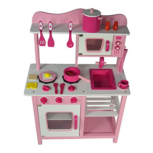 Wooden Microwave - Wooden Toy Stove Oven Microwave Pretend Play Kitchen Cooking Set