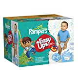 Pampers Easy Ups Boys Diapers Big Pack, 54 Count,Size 6 (4T-5T)