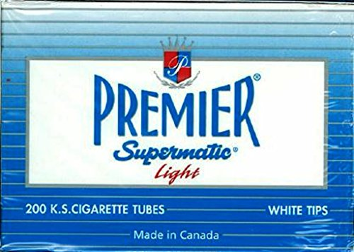 Premier King Size Light Cigarette Tubes - 5 Boxes Carey Lights
