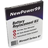 Microsoft Surface RT Battery Replacement Kit with Video Installation DVD, Installation Tools, and Extended Life Battery