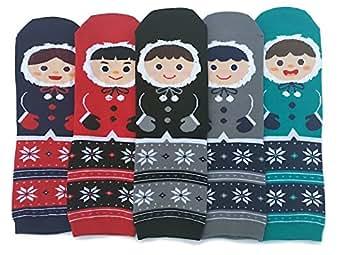 JJMax Women's Cute Eskimo Parka Winter Boots Socks Set