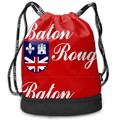 Flag Of Baton Rouge Drawstring Backpack Sport Gym
