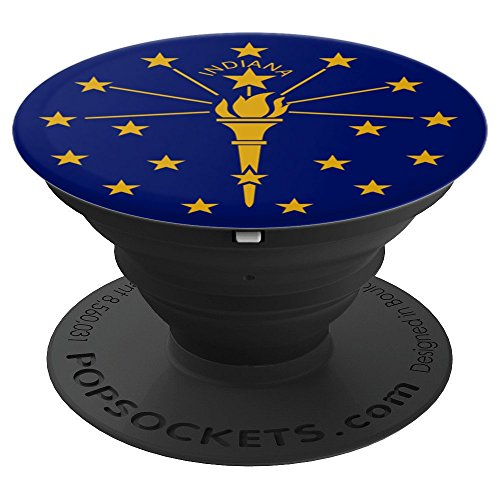 - Indiana Flag Pop Socket - PopSockets Grip and Stand for Phones and Tablets
