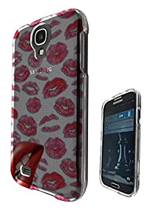 c0211 - Multi Kisses Lips Cool Lipstick Design Samsung Galaxy S4 i9500 Fashion Trend Hard Plastic Case Protective Full Case Front, Back & All Edges Protection Case Cover