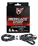 Ironlace Sport Laces-33-Inch-Black and Tan-7001