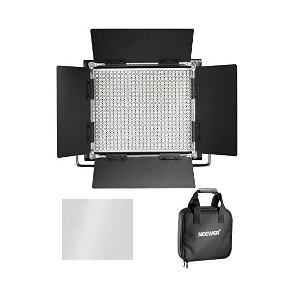 Neewer Pacchetto di due Luci LED 660 Illuminazione Video con Cavalletto in acciaio inox di 200cm Kit:LED Luce Bi-colore… 4 spesavip