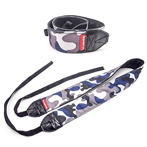 Vlashor Dslr Camera Strap   Navy   Perfect For Digital Cameras   Designed For Comfort And Ease Of Use  Great For Anti Theft And Carrying Over The Shoulder Or Neck   Navy Blue Camouflage Pattern