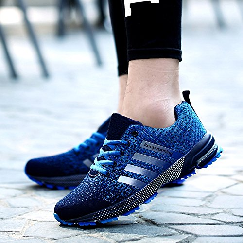 38 Blau Wanderschuhe Laufschuhe Damen Herren Sneaker Qualität Gute Leicht wgwfSnUq7