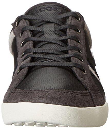 Lacoste Mens Rayford 6 Fashion Sneaker Noir / Gris Foncé