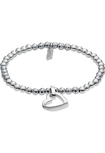 JETTE Silver Damen-Armband Silber 8 Zirkonia 26 Hämatit One Size, silber
