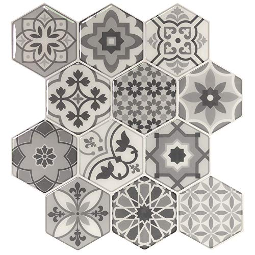 Peel and Stick Backsplash Tiles for Kitchen, Talavera Mexican Tiles (10 -