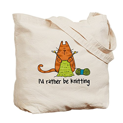 Rather be knitting Tote bag Tote Bag by CafePress by CafePress