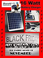 "Solar Charger - 16.6 Watt 1 Amp - Boat, RV, Marine & Trolling Motor Solar Panel - Semi Flexible - Self Regulating - 12 Volt - No experience Plug & Play Design. Dimensions 14.1"" L x 15.7"" W x 1/4"" Thick. 10' cable."