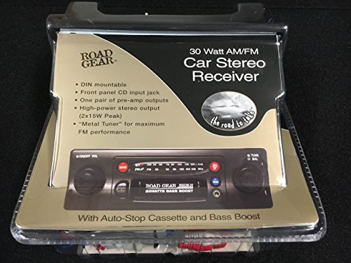 High Power AM/FM Cassette Car Stereo With Front Panel Input