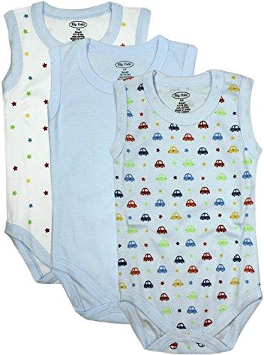 Big Oshi Unisex Baby Bodysuits 3-Pack