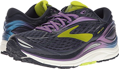 Brooks Women's Transcend 4 Bluefish/Peacoat/Purple Cactus Flower 11 B US