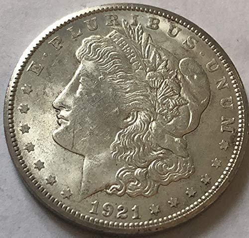 1921 S Silver Morgan Beautiful Dollar AU Almost Uncirculated +