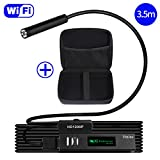 WiFi Endoscope with Carrying Case, Vmins Updated 1200P HD Wireless Borescope Inspection Camera, 2.0 Megapixels Snake Camera for iPhone and Android Smartphone, Tablet, PC - 11.5FT