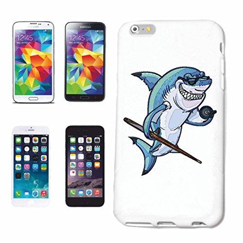 "cas de téléphone iPhone 6S ""SHARK IN POOL JEU BLANC HAI MEGALODON BLEU SHARK Hammerhai récif blacktip whalesharks requin mako"" Hard Case Cover Téléphone Covers Smart Cover pour Apple iPhone en blanc"